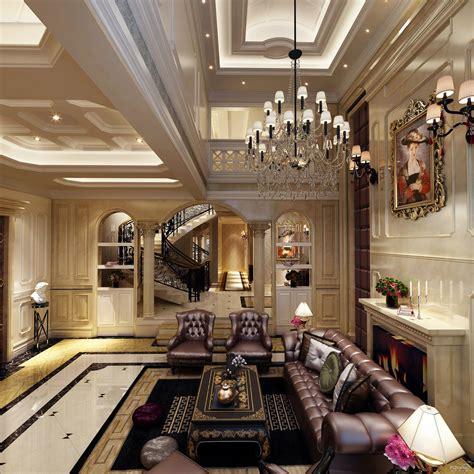 home living design quarter 380平欧式联排别墅客厅装修效果图 太平洋家居网图库