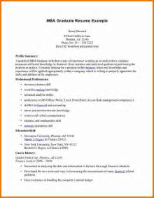 Sample Resume For Mba Admission cv example for graduate school mba graduate resume example jpg