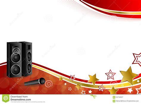 imagenes graciosas karaoke illustration rouge de cadre de ruban d or jaune de karaoke