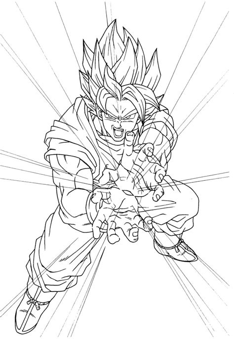 free coloring pages of by goku kamehameha