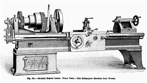 bridgeport machine tool works  image bridgeport machine tool works  engine lathe