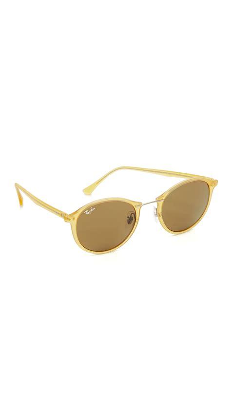 ray ban round light ray ray ban tech light ray round sunglasses lyst