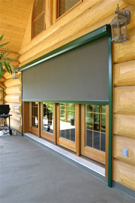 log cabin l shades habitat screen on log cabin traditional roller shades