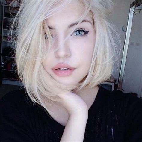 blonde hairstyles we heart it pale skin aesthetics and grunge hair on pinterest