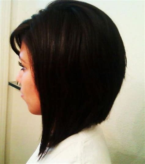 long angled bob hairstyles with back and side views and bangs bob hairstyle side view hair pinterest nice my