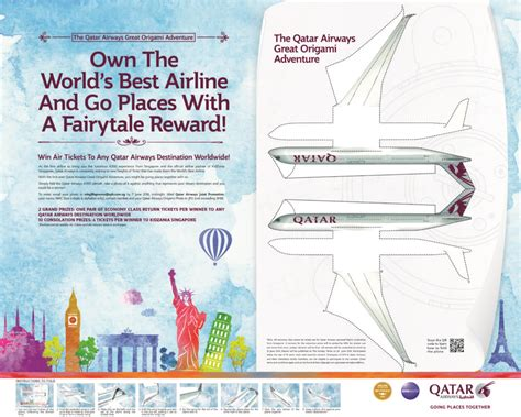 origami advertising qatar airways creates origami print ad mumbrella asia