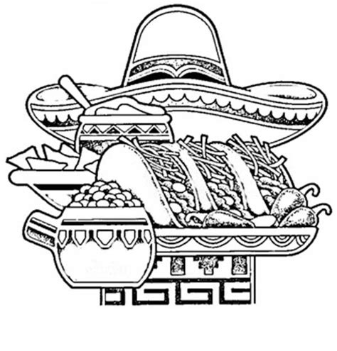 coloring pages mexican food mexico coloring pages mexican food coloring pages food
