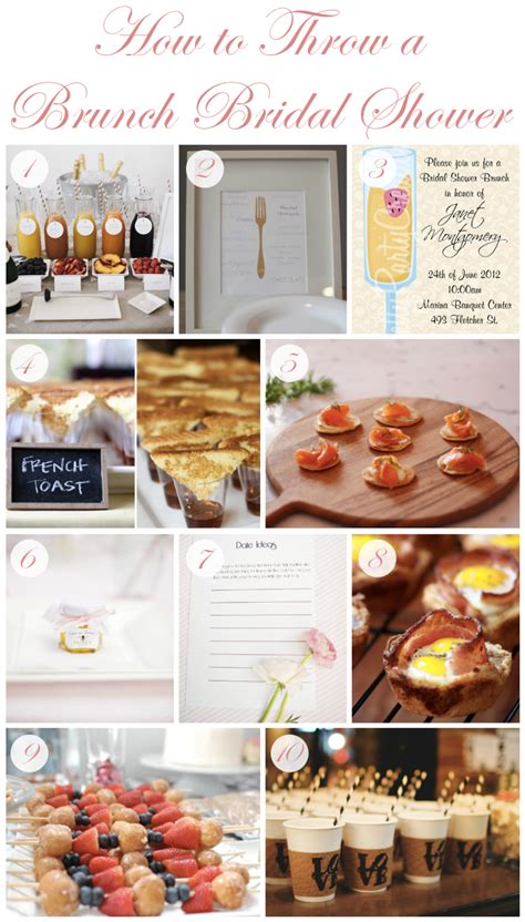 bridal shower brunch menu how to throw a brunch bridal shower