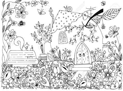 Coloring Mewarnai Pemandangan gambar mewarnai pemandangan taman bunga anak tk paud