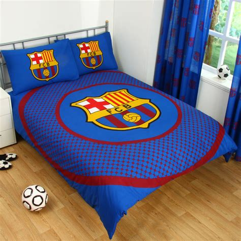 barcelona fc bedroom set barcelona double duvet cover set new football bedding ebay