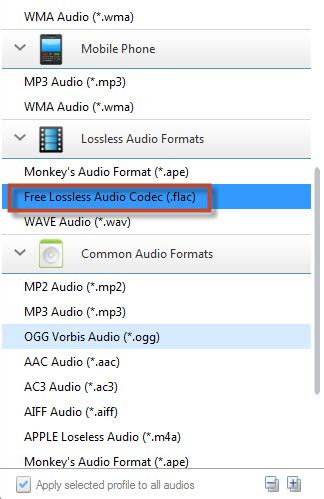 format audio dca how to convert m4a to wma