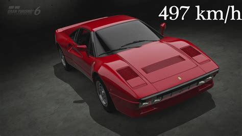 Km H Ferrari by Gran Turismo 6 Ferrari Gto 1984 497 Km H Top Speed