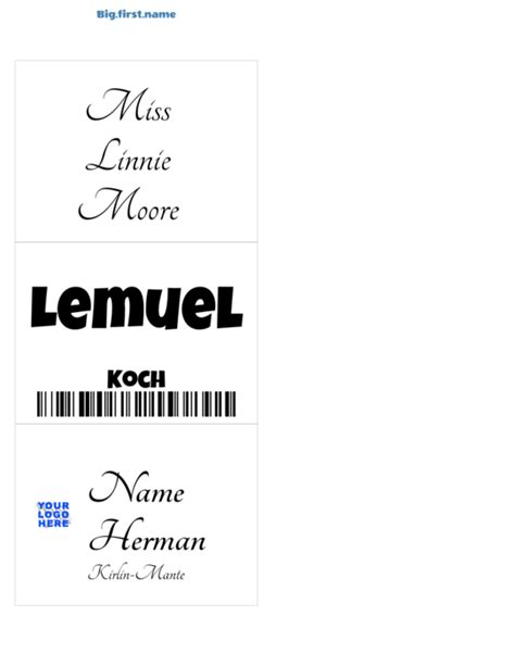 avery template 74520 similar to avery 74520 name badge inserts big name