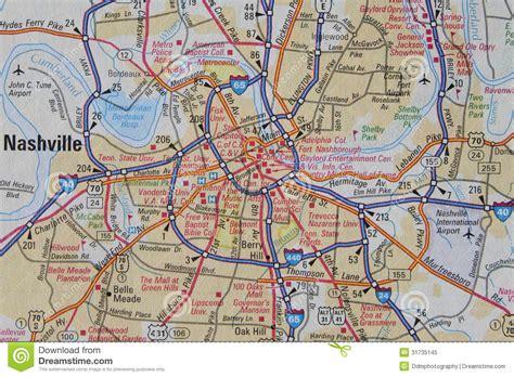 map of nashville map of nashville tn royalty free stock photo image 31735145