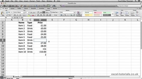 tutorial excel countif microsoft excel tutorial countifs function youtube