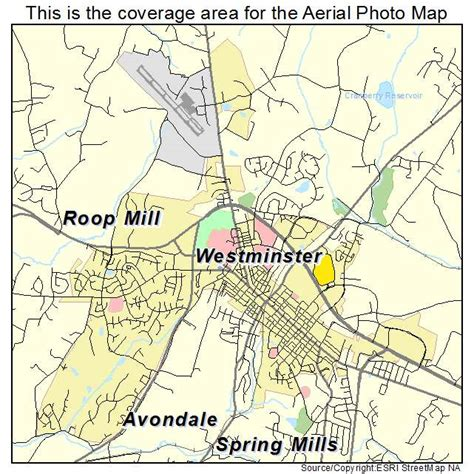 map of westminster aerial photography map of westminster md maryland