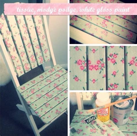 How To Decoupage Furniture With Mod Podge - cool and easy diy mod podge crafts