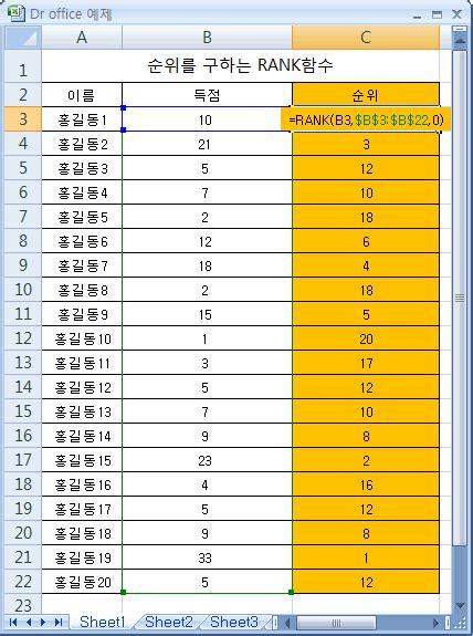 Csudh Mba Ranking by 닥터 오피스 엑셀 순위구하기 Rank함수