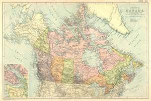 vintage canada map canada 1910 large map published by g w bacon vintage