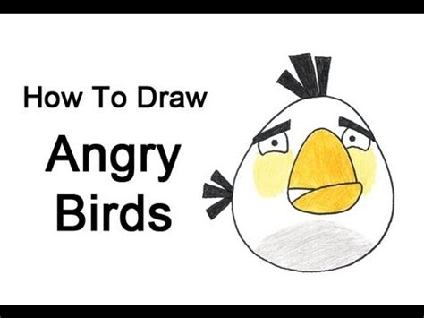 how to draw angry birds white bird youtube