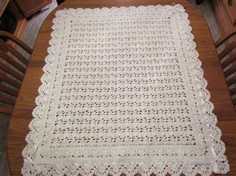 white pattern blanket white baby blanket crochet christening afghan heirloom