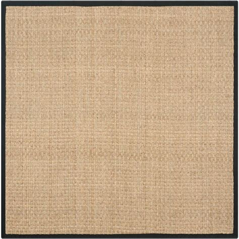 10 X 10 Ft Square Rug - safavieh fiber beige black 10 ft x 10 ft square