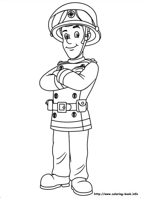 Fireman Sam Coloring Pages by Fireman Sam Coloring Picture Colouring In