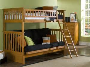 Loft Bed With Futon Futon Bunks On Futon Bunk Bed Futons And
