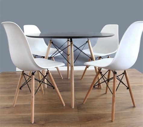 black dining table and 4 chairs white dining table and chairs set 80cm 4 eames