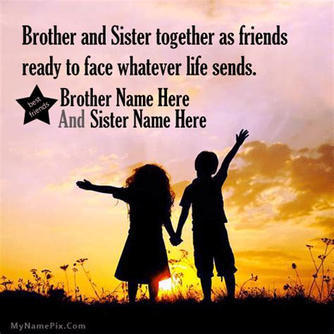 images of love of sisters brother sister love image with name