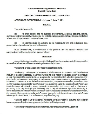 business agreement format samples   ms