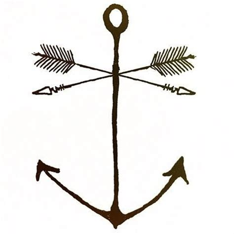 arrow and anchor tattoo tattoos pinterest anchor