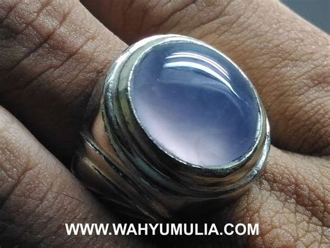 Batu Akik Biru Sepritus batu cincin akik biru langit baturaja asli kode 586