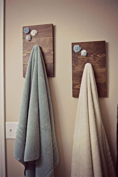 unique bathroom towel holders rustic bath towel holder