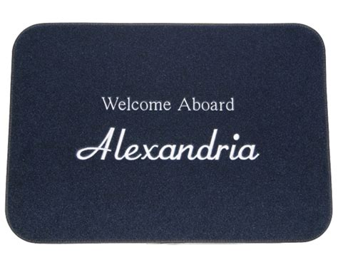 Custom Boat Mats by Personalized Boat Mat Small 17 X 12