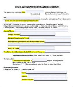 Free Event Template by Event Contract Template 9 Documents In Pdf