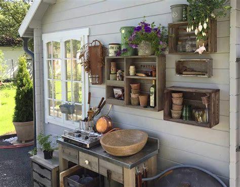 Gartenhaus Deko