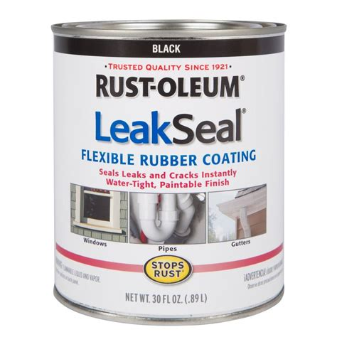 waterproofing aluminum boat rust oleum stops rust 30 oz leakseal black flexible