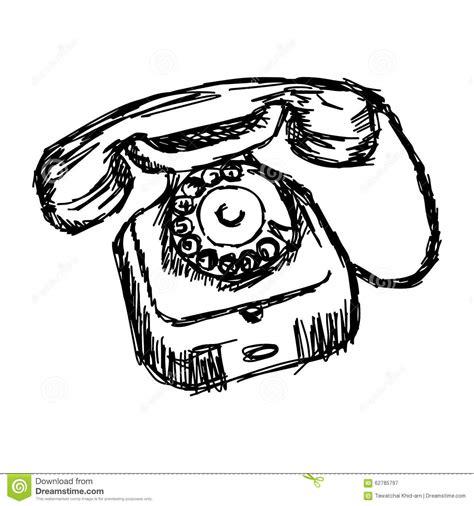 doodle telephone illustration vector doodle of sketch apple