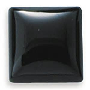 Metal Jewelry Making Supplies - square 20mm black onyx cabochon stone