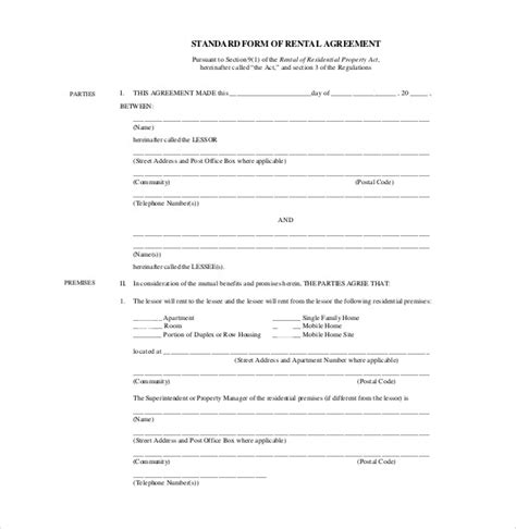 24 Rental Agreement Templates Pdf Doc Free Premium Templates Lease Agreement Template Pdf