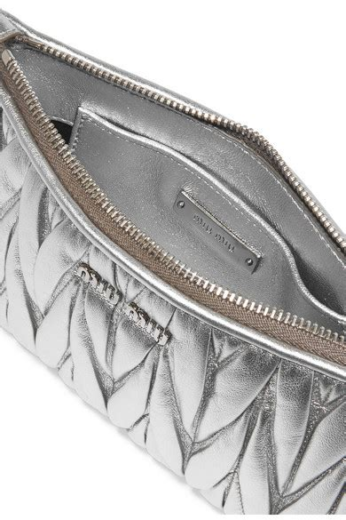 Miu Miu Shiny Dragonfly Clutch by Miu Miu Miu Miu Matelasse Metallic Leather Clutch