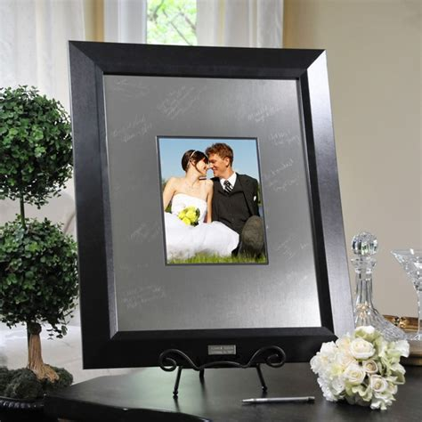 picture frame guest book engraved guest book signature wedding picture frame ebay