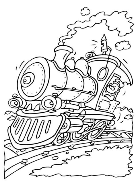 lego trains coloring pages