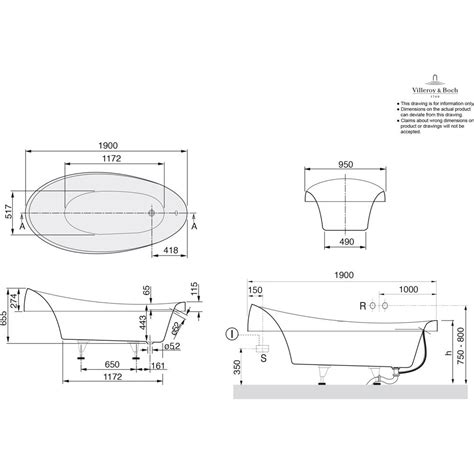badewannen abmessungen villeroy boch aveo badewanne 190 x 95 cm ubq194ave7v 01