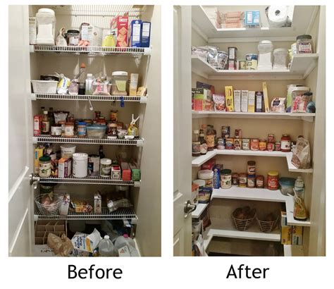 Pantry Shelf | kitchen pantry makeover replace wire shelves with wrap around wood shelving for under 130 diy