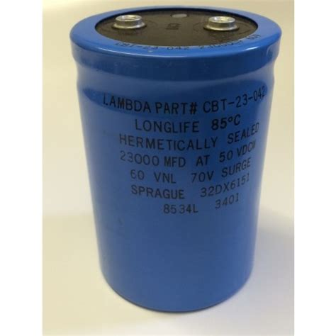 smoothing capacitor in power supply 23000uf 50v lambda spec longlife power smoothing capacitor blb111