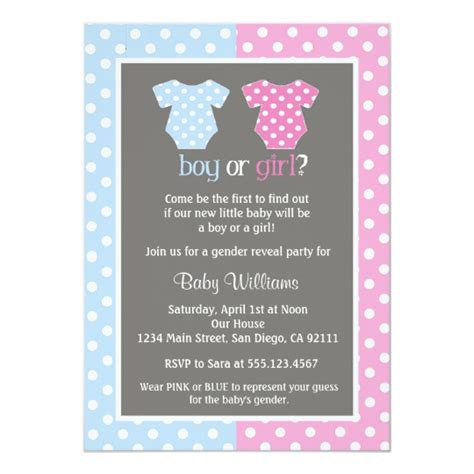 Gender Reveal Party Baby Shower Invitations Zazzle Com Gender Reveal Invitation Template