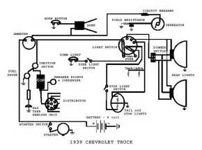 complete electrical wiring diagram for 1939 chevrolet truck circuit wiring diagrams