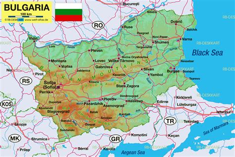 map  bulgaria map   atlas   world world atlas